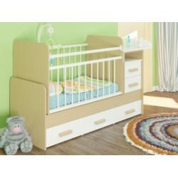 Детская кроватка трансформер с маятником и комодом Атон Полина