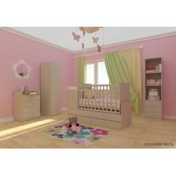 Детская кровать трансформер маятник Фея 1200
