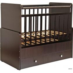 Детская кроватка-трансформер Фея 720 с поперечным маятником и ящиками