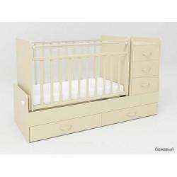 Детская кроватка-трансформер с комодом СКВ-5 маятник + 2 ящика