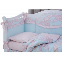 Комплект в детскую кроватку 6 предметов Perina Шантель