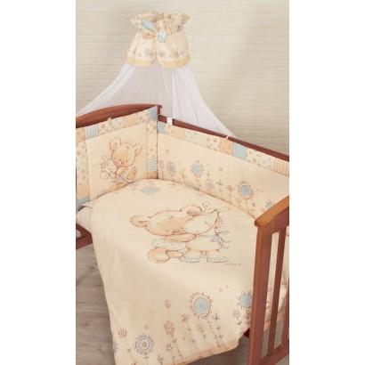 """Комплект в кроватку для новорождённого Золотой гусь """"Mika"""", 7 предметов"""