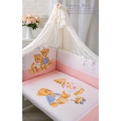 """Комплект в кроватку для новорожденного Золотой гусь """"Sweet bear"""", 7 предметов"""