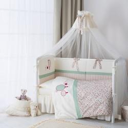 Комплект для кроватки новорождённого 6 предметов Perina Клюковка