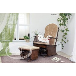 Кресло качалка с пуфом для кормящих мам Можга Красная звезда С 254