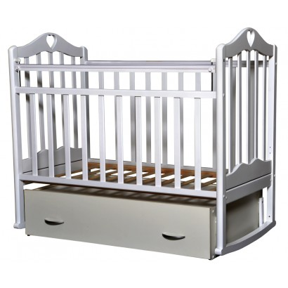 Детская кроватка для новорожденного поперечный маятник Антел Каролина 4