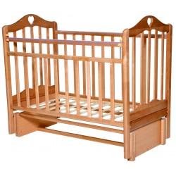 Детская кроватка для новорожденного продольный маятник Антел Каролина 5
