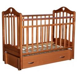 Детская кроватка для новорожденного продольный маятник Антел Каролина 6