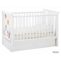 Детская кроватка для новорожденного-маятник Papaloni Aura 125x65 (Папалони)