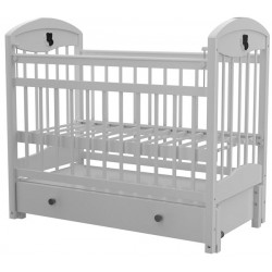 Детская кроватка для новорожденного Briciola-3 продольный маятник, с ящиком