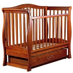 Детская кроватка для новорожденного Наполеон Viva, с поперечным маятником