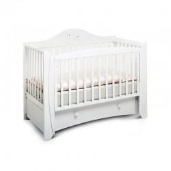 Детская кроватка для новорожденного-продольный маятник 125x65 Papaloni Olivia (Папалони)