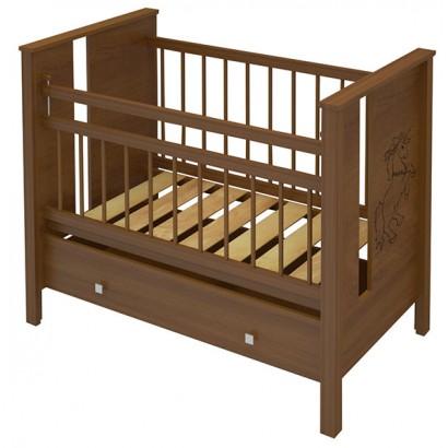 Детская кроватка для новорожденного Алмаз мебель Клео