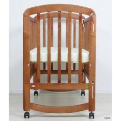 Детская кроватка для новорожденного качалка на колёсиках Фея 304