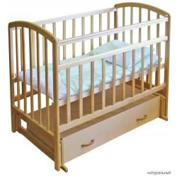 Детская кроватка для новорожденного-поперечный маятник с ящиком Фея 311