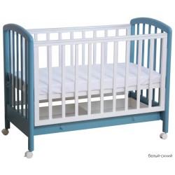 Детская кроватка для новорожденного с ящиком на колёсах Фея 600
