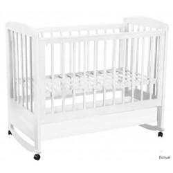 Детская кроватка для новорожденного с ящиком Фея 603, качалка+колёса