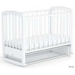 Детская кроватка для новорожденного поперечный маятник с качалкой и колёсами Фея 610