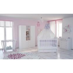Детская кроватка для новорожденного продольный маятник с ящиком Фея 660