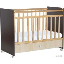 Детская кроватка для новорожденного Фея 700, на колёсиках, с ящиком