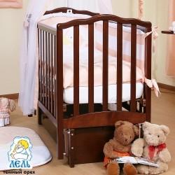 Детская кроватка продольный маятник Лель (Кубаньлесстрой) Жасмин АБ 19.3