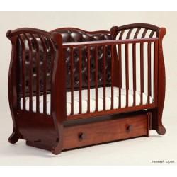 Детская кроватка для новорожденного продольный маятник Лель Кубаньлесстрой Магнолия БИ 555.3