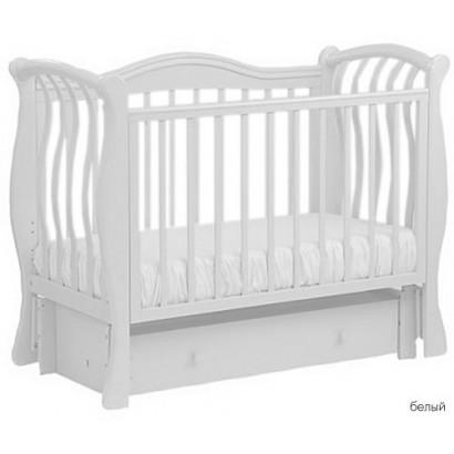 Детская кроватка для новорожденного с продольным маятником Кубаньлесстрой (Лель) Маргаритка БИ 08.3