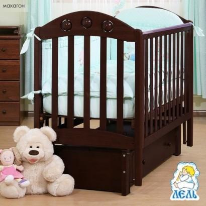 Детская кроватка с продольным маятником Орхидея АБ 24.3 Лель (Кубаньлесстрой)