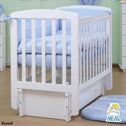 Детская кроватка с продольным маятником Лель (Кубаньлесстрой) Ромашка АБ 16.3