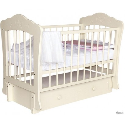 Детская кроватка Лилия Можгинский лесокомбинат продольный маятник с ящиком