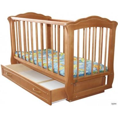 Детская кроватка маятник поперечный с ящиком Кармелита Можгинский лесокомбинат