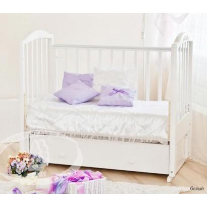 Детская кроватка Можга Красная звезда Регина С 580 продольный маятник с ящиком