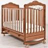 Детская кроватка для новорожденного на колёсиках с качалкой и ящиком Angela Bella Изабель