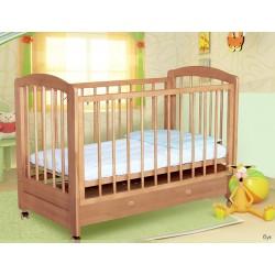 Детская кроватка для новорожденного на колёсах с ящиком Карина Можгинский лесокомбинат