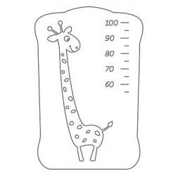 Кроватка для новорожденного детская поперечный маятник СКВ-4 Жираф