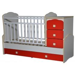 Детская кроватка трансформер с маятником Антел Ульяна-1