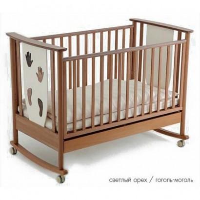 Детская кроватка для новорожденного-качалка Papaloni Aura 125х65 (Папалони)