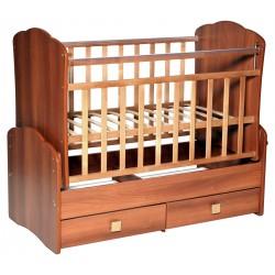 Детская кроватка для новорожденного с поперечным маятником Антел Ульяна-3