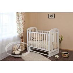 Кроватка для новорожденного Можга Агата С718 Красная звезда поперечный маятник