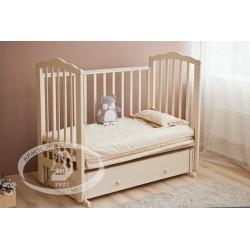 Кроватка для новорожденного Можга Элина С669 Красная звезда поперечный маятник + закрытый ящик