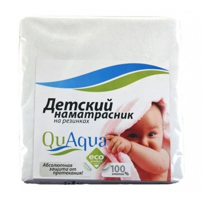 Непромокаемый наматрасник для детских кроваток QuAqua