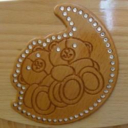 Детский комод с пеленальным столом Гандылян (Gandylyan) Аистёнок декор Мишки на луне