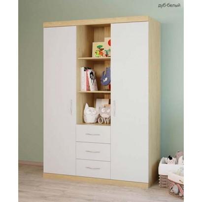 Шкаф для детской комнаты трёхсекционный Polini Classic