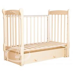 Детская кроватка для новорожденного продольный маятник   ящик Можга (Красная звезда) Артём С579