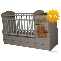 Детская кровать трансформер маятник Антел Ульяна 1   Мишки