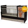 Детская кроватка трансформер с маятником и комодом Антел Ульяна 2 | Мишка