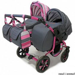 Детская коляска для двойни 2 в 1 Viva Polmobil