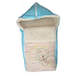 Зимний конверт на овчине Монис Стиль Мишка на луне