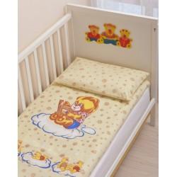 Комплект в детскую кроватку 3 предмета Селена - фланель АРТ. - 06.5