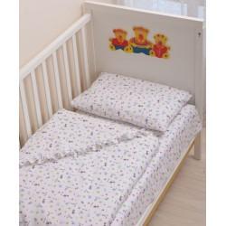 Комплект в детскую кроватку 3 предмета Селена - фланель АРТ. - 06.4